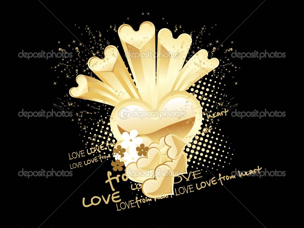 Romantic background for valentine day, vector illustration — Stock Vector #3112499