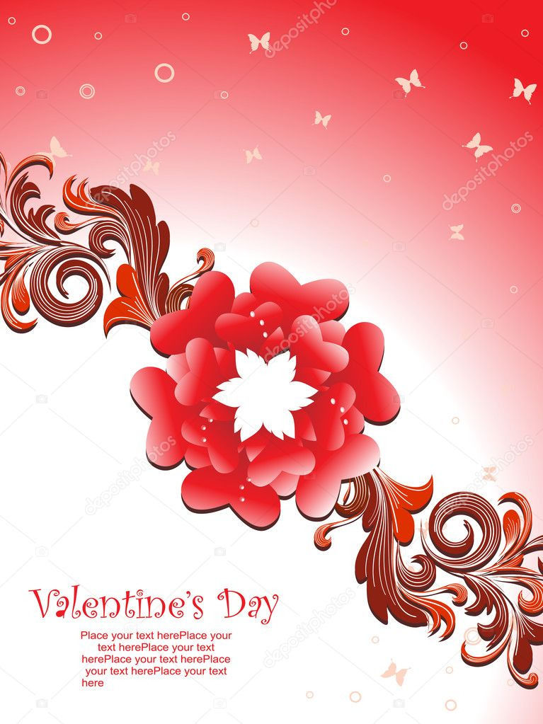 Beautiful romantic illustration for valentine day   Stockvectorbeeld #3113205