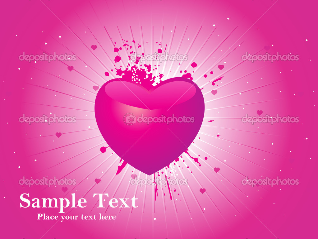 Valentine card  Stockvectorbeeld #3113606