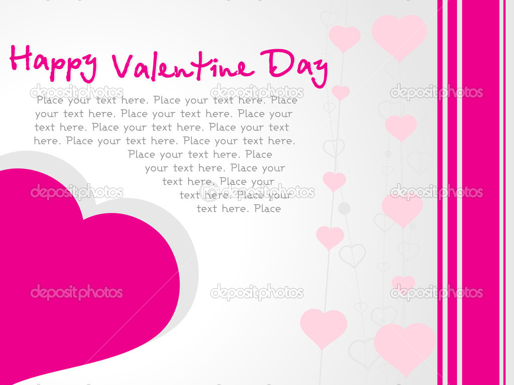Vector banner of pink hearts theme, illustration   #3119541
