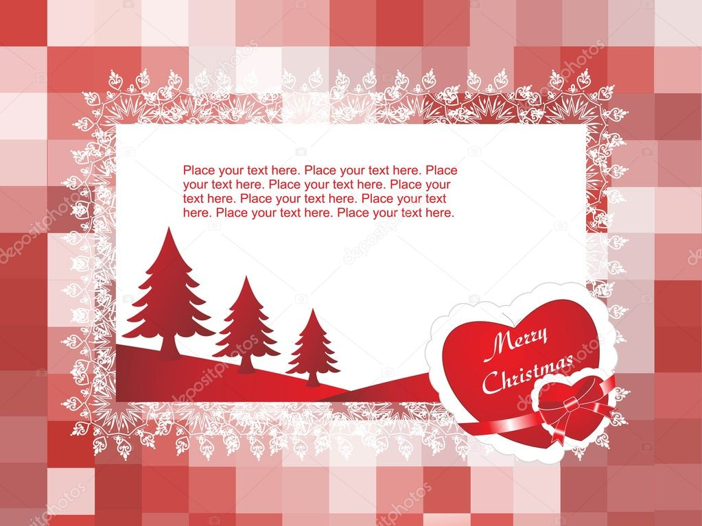 Vector christmas card for your love — Stockvectorbeeld #3119933