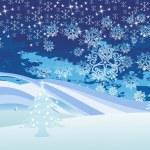 Vector christmas wallpaper — Stock Vector