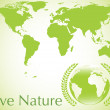 Vector ecologica earth background — Image vectorielle