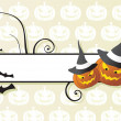 Stock Vector: Frame on halloween background