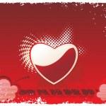 vektor grunge ram med hjärta — Stockvektor