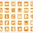 Vector icons set, wallpaper — Stock Vector
