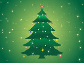 Vector christmas tree isolated on white — Stock Vector