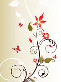 Vector decorative floral series_17 — Stock Vector