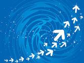 Richtung der bewegung — Stockvektor