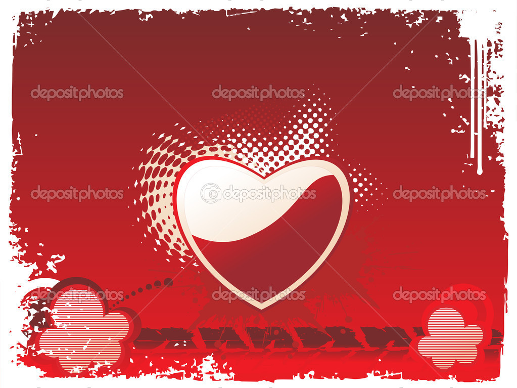 Vector grunge frame with heart — Stock Vector #3149726