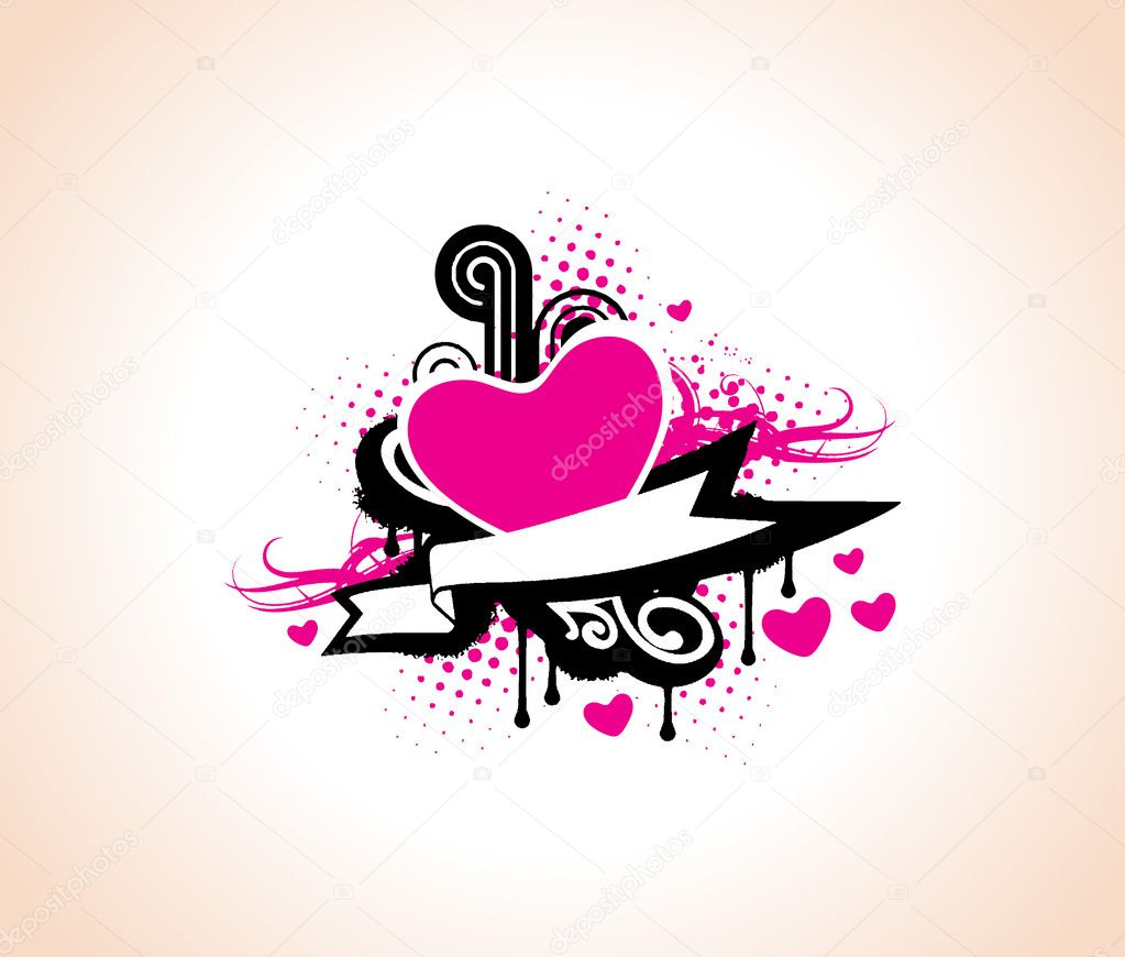 Vector heart of music valentine, illustration — Stock Vector #3149730