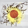 Vector illustration of basketball - Stock Vector