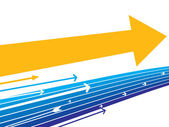 Vector illustration direction of movement, desig — Stockvector