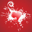 Vector illustration of red hearts — Stock Vector
