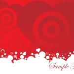 バレンタインの飾りの心臓、design5 のベクトル イラスト — ストックベクタ