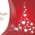バレンタインの飾りの心臓、域設計 1 のベクトル イラスト — ストックベクタ