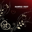 Background with floral heart - Stock Vector