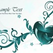 Royalty-Free Stock Vectorafbeeldingen: Wavy background with romantic heart, floral