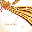 Royalty-Free Stock Imagen vectorial: Illustration of musical background