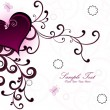 Background with decorated heart - Stock Vector