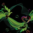 Vector romantic pattern wallpaper — 图库矢量图片