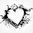 Grungy heart for valentine day — Imagen vectorial