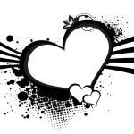 背景与球衣黑色心脏 — 图库矢量图片