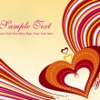 Royalty-Free Stock Imagem Vetorial: Vector illustration of romantic background