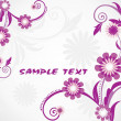 Stock Vector: Background with purple floral, sample text