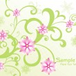 Background with green floral — Stock Vector