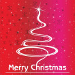 Background with curve xmas tree - Imagens vectoriais em stock