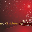Background with curve xmas tree — Imagen vectorial