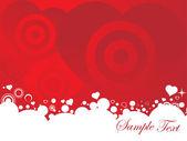 Vector illustration of valentines ornament heart, design5 — Stock Vector