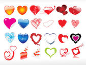 Vector illustration of heart icon set1 — Stock Vector