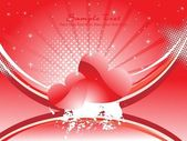 Vector illustration of romantic background — 图库矢量图片