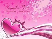 Grungy romantic illustration — Stock Vector