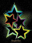 Dotted background with colorful star — Vector de stock