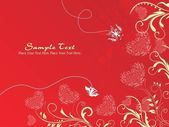Grungy romantic wallpaper — Stock Vector