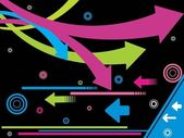 фон с красочные стрелки — Cтоковый вектор