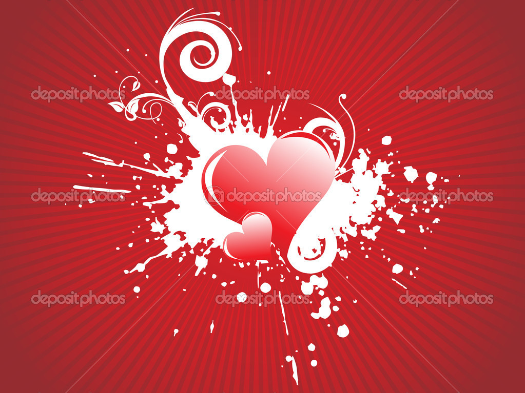 Vector illustration of red hearts — Imagen vectorial #3281151