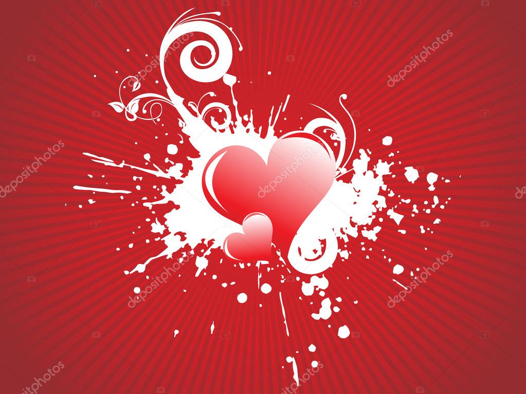 Vector illustration of red hearts    #3281151