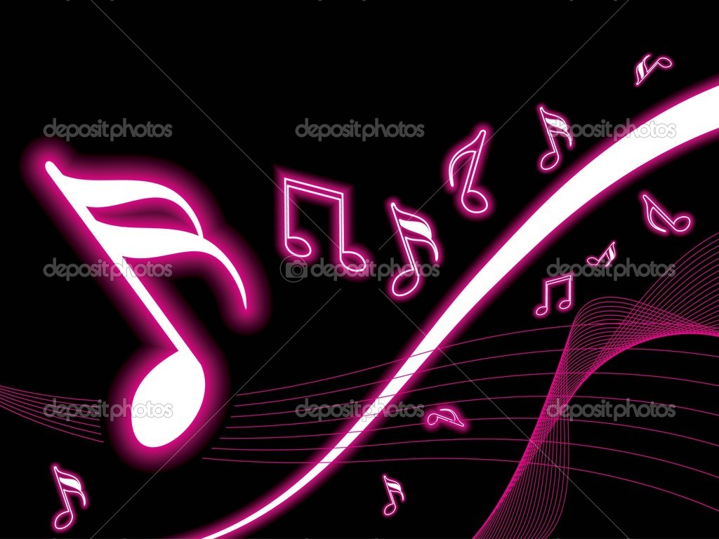 Background with musical notes wave stock illustration