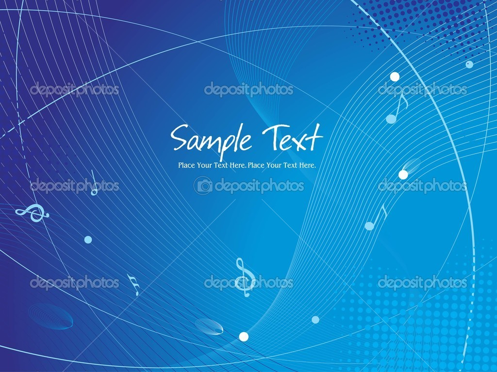 Abstract blue dotted wave background with musical notes, illustration — Stock Vector #3286919