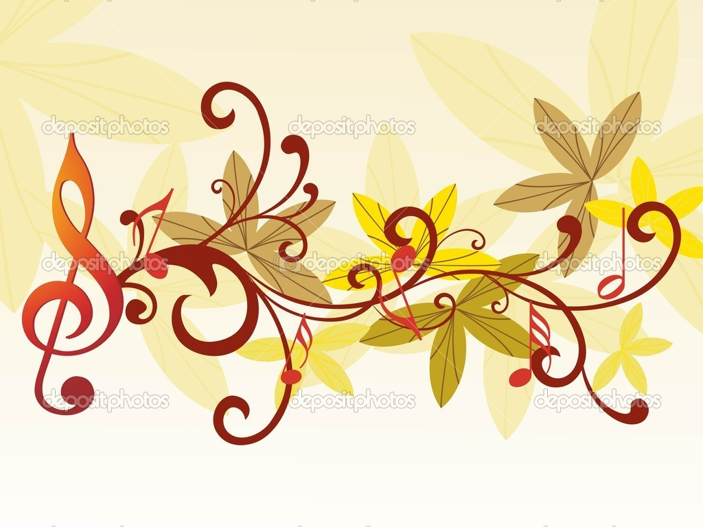 music notes backgrounds floral - photo #39