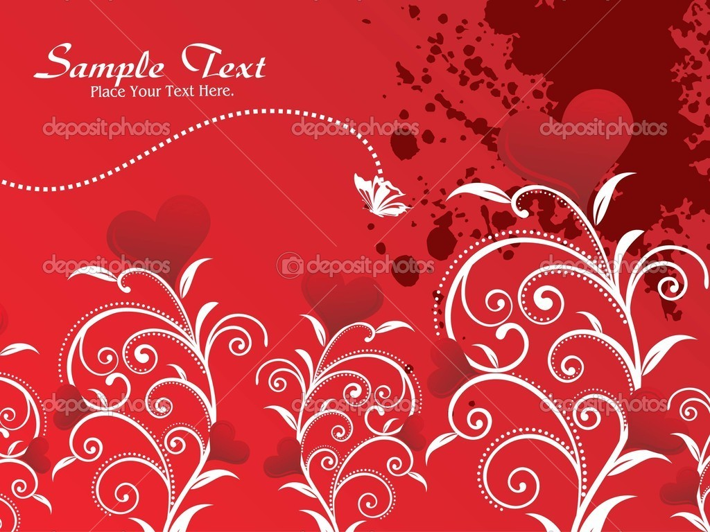 Maroon grungy background with floral pattern heart — Stock Vector #3287713