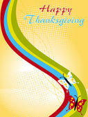Illustration for happy thankgiving day — Stock Vector