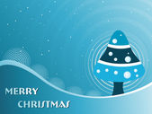 Fondo para la celebración de navidad feliz — Vector de stock