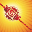 Background with rakhi - Stock Vector