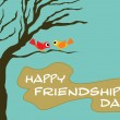 Friendship day wallpaper illustration — Stock Vector