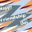 Background for friendship day — Stock Vector
